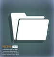 Folder icon On the blue-green abstract background vector image