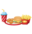 Foods from the fastfood restaurant vector image