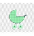 green clip art stroller for scrapbook or baby boy vector image vector image