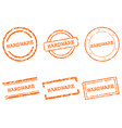 hardware stamps vector image vector image