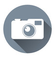 Hipster Photo Camera Icon Flat Design Style Circle vector image vector image