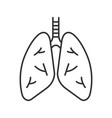 human lungs linear icon vector image vector image