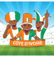 ivory coast football support vector image vector image