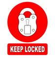 keep locked padlock sign vector image vector image
