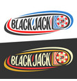 logo for blackjack vector image vector image