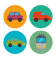 means of transport icons vector image vector image