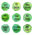 natural organic badges and labels vector image