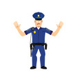 police officer surprised isolated policeman vector image vector image