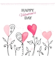 Postcard for Valentine s day vector image vector image