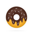 realistic chocolate donuts in glaze isolated vector image