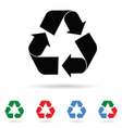 recycle sign color vector image vector image
