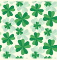 retro pattern with clovers vector image vector image