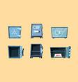 safe deposit steel home for money safeness vault vector image