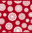 seamless background from a set of snowflakes vector image vector image