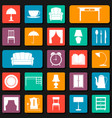 seamless background with icons of furniture vector image vector image