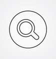search outline symbol dark on white background vector image vector image