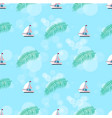 ship and leaves pattern set vector image vector image