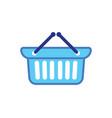 shopping cart basket buy logo vector image vector image
