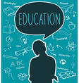 Silhouette people of Education concept vector image vector image