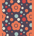 simple seamless floral pattern vector image