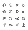 Simple Sport Equipment Icons vector image vector image