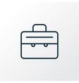 suitcase icon line symbol premium quality vector image vector image