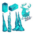 the set of cubes of ice and products in the form vector image vector image