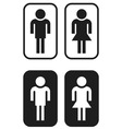 toilet signs vector image