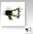 Triangulated megaphone symbol vector image vector image