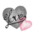 two hearts vintage love card vector image