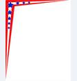 usa symbol flag corner frame border vector image vector image