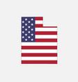 utah map on american flag vector image