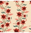 Vintage floral seamless background vector image vector image