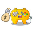 with money bag modern game shaped controller vector image
