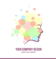 Woman face contour profile beauty logo vector image vector image