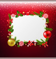 Xmas banner with red glitter background