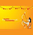 happy dussehra poster design vector image