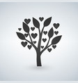 love tree with heart leaves valentines day vector image