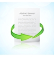 Abstract banner with arrow vector image vector image