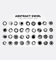 abstract spiral set vector image vector image