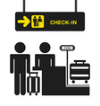 airport terminal vector image vector image