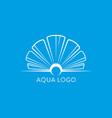 aqua logo shell logo abstract design vector image