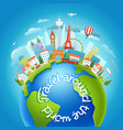 around world travelling concept vector image