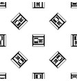 atm pattern seamless black vector image vector image