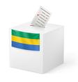 Ballot box with voting paper Gabonese Republic vector image vector image
