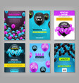 black friday set coupons vouchers flyers vector image