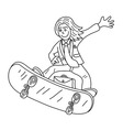 Businessman Line Art Cartoon vector image
