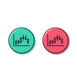 candlestick chart line icon financial graph vector image vector image