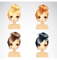 Casual Short Hair Style Set vector image vector image