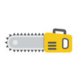 chainsaw flat icon build and repair electric saw vector image